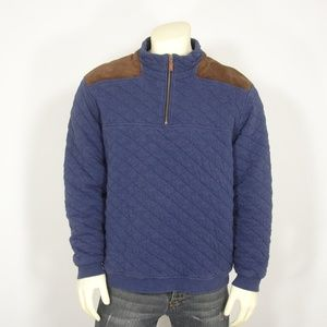 VINEYARD VINE SHEP & IAN QUILTED PULLOVER XL